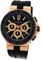 Bulgari Diagono Chronograph 18K Rose Gold Strap Mens Watch