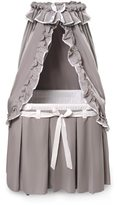 Badger Basket Majesty Grey/ White Classic Baby Bassinet with Canopy