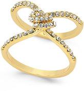 Kate Spade Gold-Tone Pavé Crystal Knot Ring