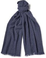 Begg & Co - Kos Washed Cashmere and Linen-Blend Scarf