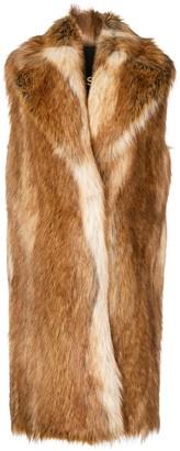 Philosophy di Lorenzo Serafini faux fur sleeveless coat