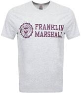Franklin & Marshall Franklin Marshall Logo T Shirt Grey