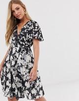 French Connection devore floral dress