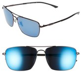 Smith Optics Women's 'Nomad' 59Mm Polarized Sunglasses - Dark Gray/ Polar Blue Mirror