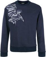Emporio Armani embroidered eagle sweatshirt - men - Cotton/Polyester - L