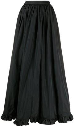 MSGM Ruffle-Hem Long Skirt