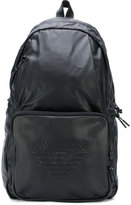 Armani Jeans - embossed backpack