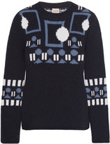 Tod's Intarsia wool and cashmere-blend sweater