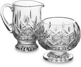 Waterford Lismore Crystal Footed Sugar and Creamer