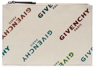 Givenchy Rainbow Logo Print Clutch