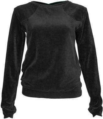 Format LENE Black Velours Sweater - S - Black