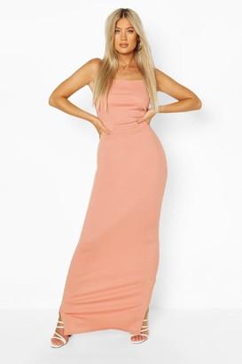boohoo Tall Rib Maxi Dress