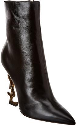 Saint Laurent Opyum 110 Leather Bootie