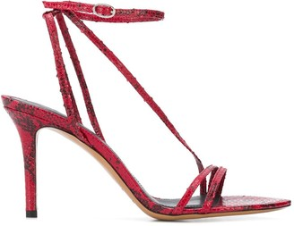 Isabel Marant Aridee snakeskin-effect sandals