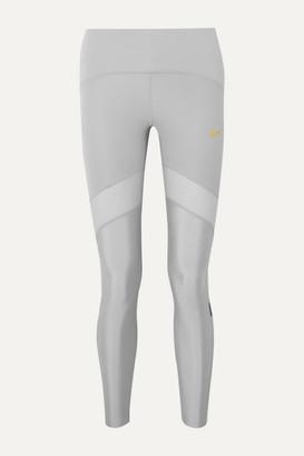 Nike Glam Dunk Speed Mesh-trimmed Dri-fit Leggings - Gray