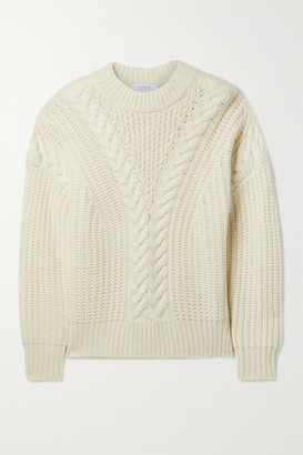 La Ligne Cable-knit Cashmere Sweater - Cream