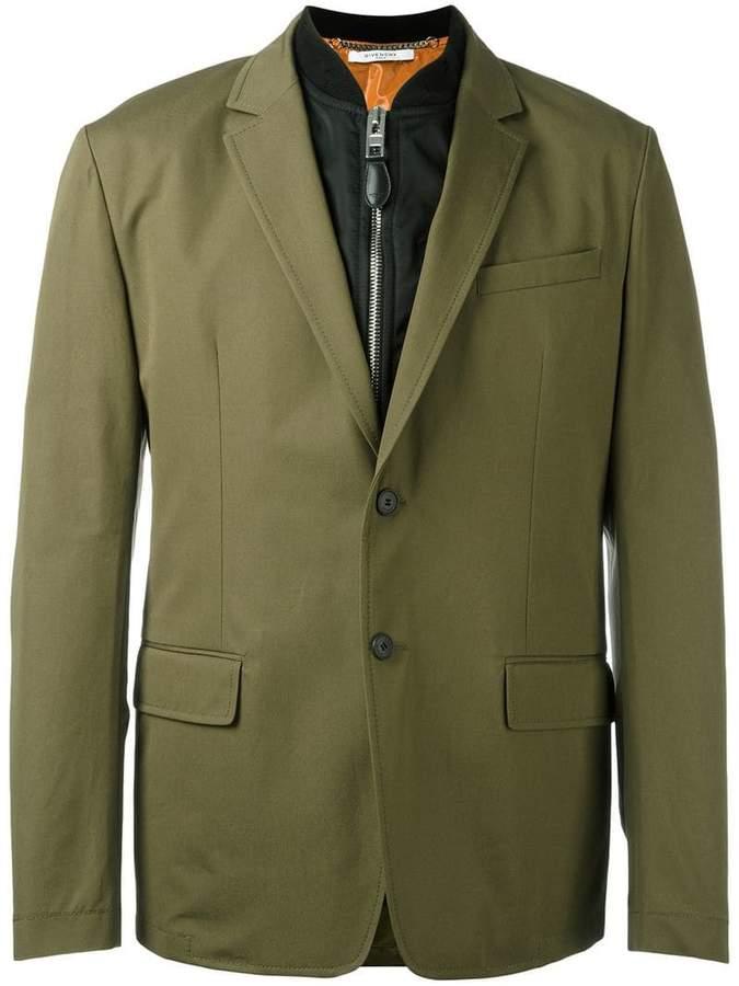 Givenchy bomber layer blazer jacket