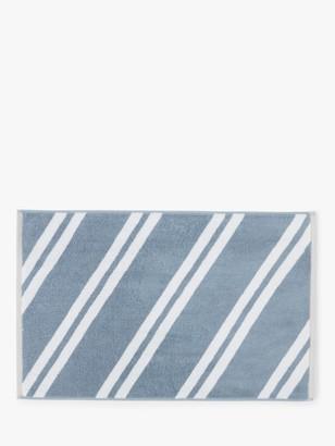 John Lewis & Partners Diagonal Stripe Terry Cotton Bath Mat