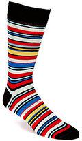 Daniel Cremieux Genova Striped Crew Dress Socks