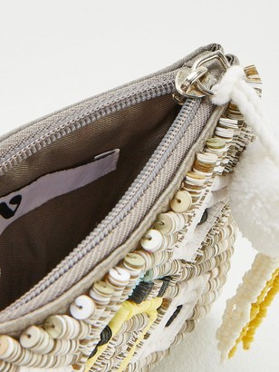 Very Embroidered Sequin Zip Purse - Multi