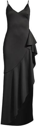 Black Halo Itoro Ruffle Gown