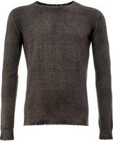 Avant Toi frayed slim-fit jumper - men - Cashmere - M