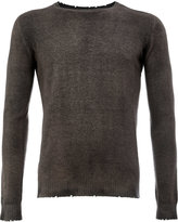 Avant Toi frayed slim-fit jumper