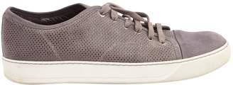 Lanvin Grey Leather Trainers