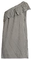 Velvet by Graham & Spencer Virgie one-shoulder gingham dress