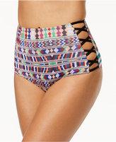 Roxy Cuba Strappy High-Waist Bikini Bottoms