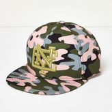 River Island Girls pink camo NYC cap