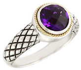 Effy 18K Yellow Gold And Silver Amethyst Ring