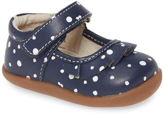 See Kai Run Belle Polka Dot Leather Mary Jane Flat
