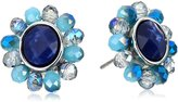 """lonna & lilly Blue Horizons"""" Drusy Button -Earrings"""