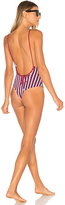 Bond Eye Sunday Session Reversible One Piece Swimsuit in Burgundy. - size Aus 8/ US 6 (also in )