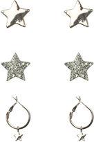 Oasis 3pk Star Earrings