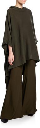 Rosetta Getty Hooded Poncho Sweater