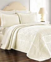 Martha Stewart Collection Cotton Flowering Trellis Ivory King Bedspread