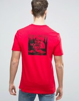 The North Face Redbox Celebration T-Shirt Back Print in Red