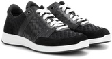 Bottega Veneta Intrecciato leather and suede sneakers