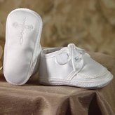 Little Things Mean a Lot Baby Boys Satin Celtic Cross Oxford Christening Shoes 0