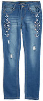 Vigoss Girls 7-16 Embroidered Floral Jeans