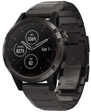 Garmin Unisex fenix 5 Plus Titanium Band Smart Watch 47mm