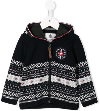 Lapin House striped zip-front jacket