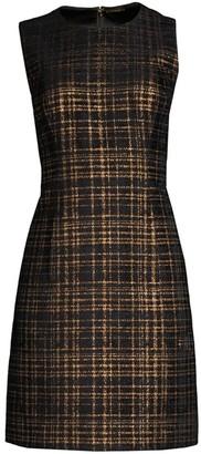 Elie Tahari Jaelyn Tweed Mini A-Line Dress
