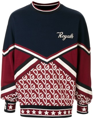 Dolce & Gabbana panelled 'Royals' patch sweatshirt