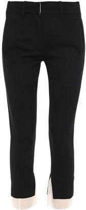 Ann Demeulemeester Gauze-trimmed Wool-and Cotton Blend Twill Slim-leg Pants
