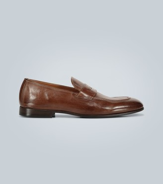 Brunello Cucinelli Leather penny loafers