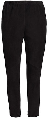 Lafayette 148 New York, Plus Size Murray Suede-Front Skinny Pants