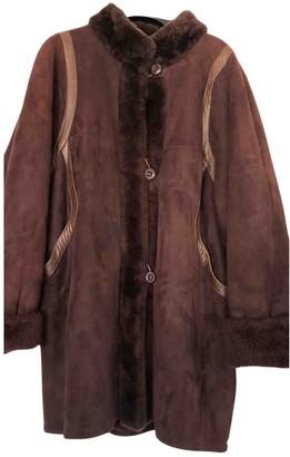 Saint Laurent Purple Leather Coats